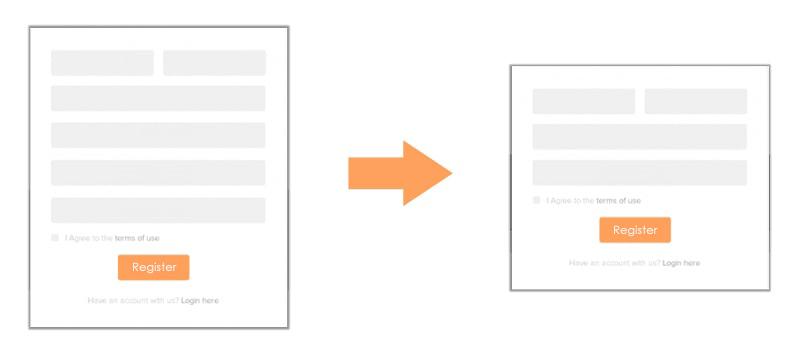 Registration form – Minimum question